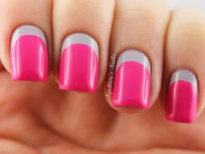 Grey_Neon_Pink_Ruffian_Nails_Essie_Lights_B