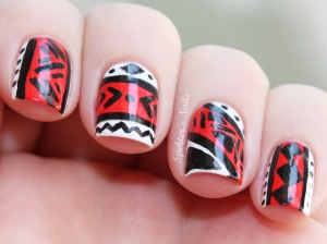 White_Pink_Aztec_Nails_A