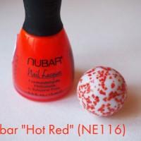 """""""Вау-эффект"""" на ногтях с неоновым лаком Nubar """"Hot Red"""" NE116."""